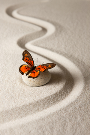 zen: Zen butterfly Stock Photo