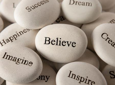 Inspirational stones - Believe