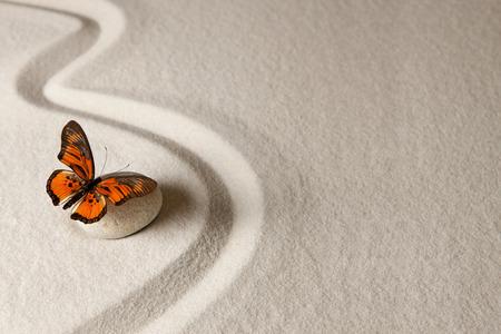 Zen butterfly Standard-Bild