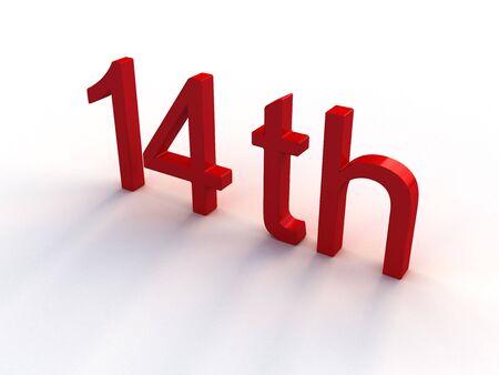 14th: 14a Foto de archivo