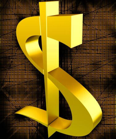 currency glitter: Gold dollar Stock Photo