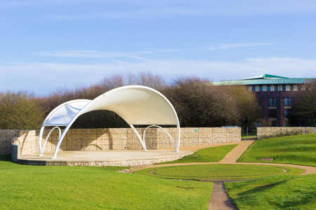 milton: Open air theatre in beautiful Campbell park in spring, Milton Keynes, England