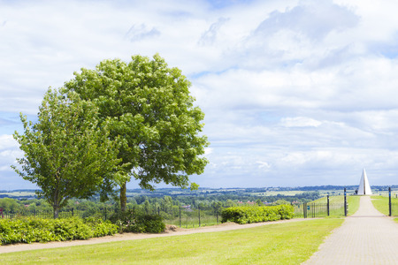 Scenic summer landscape under dramatic sky, Campbell Park, Milton Keynes
