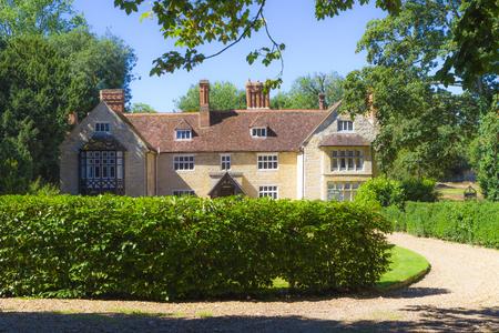 MILTON KEYNES, ENGLAND - AUGUST 26, 2016: Summer scenery of Great Linford village in sunny day, Buckinghamshire