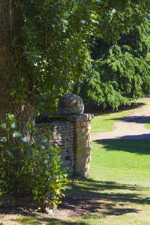 Summer scenery of Great Linford village in sunny day, Buckinghamshire