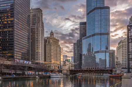 Chicago,IL,USA,April 6 2017:Trump International Hotel and Tower,for editorial use only