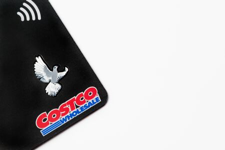 Chicago,IL Feb-12-2017:Close up of a Costco membership card for editorial use only