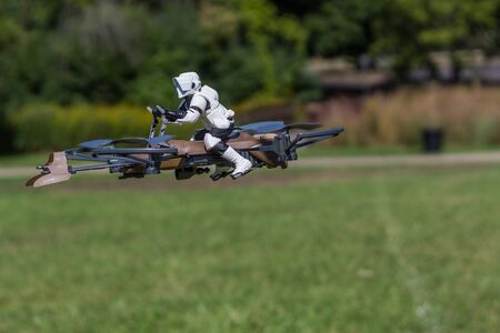 Schaumburg, IL, USA, September 18, 2016- Flying Star Wars Trooper for editorial use only