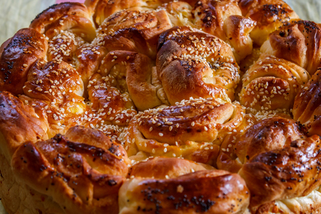 Bulgarian Christmas Bread (homemade bread) Imagens