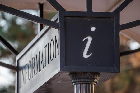 Black Information Sign
