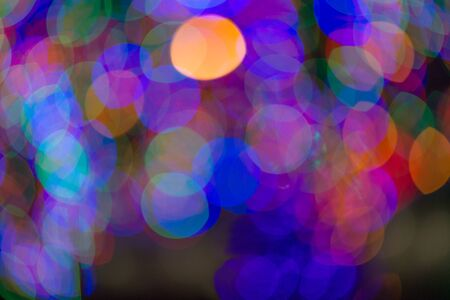 Abstract colorful background with lights bokeh effect Banco de Imagens
