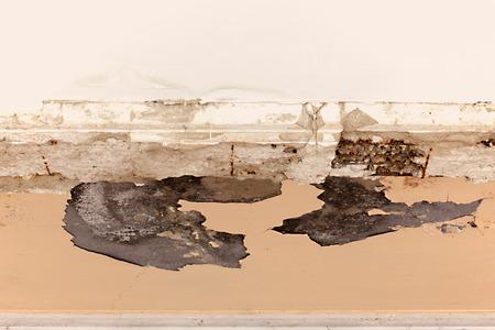 leakage: Ceiling plaster damaged from rainwater leakage.