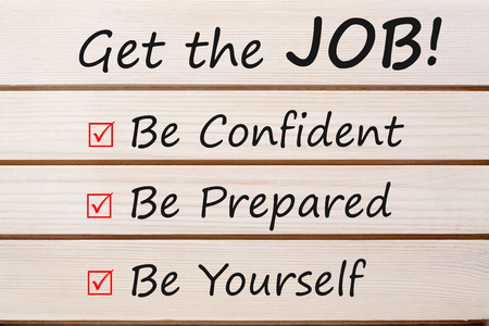 Get the Job! written on wood wall decor.Business concept.