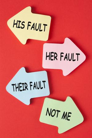 Seine sie ihre und nicht ich Schuld. Warum beschuldigen die Leute andere?