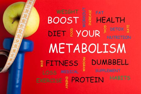 Boost Your Metabolism Word Cloud. Concept sport, diet, fitness, healthy eating. 写真素材