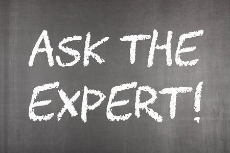 Ask the Expert written on blackboard. Business concept. Фото со стока - 132487215