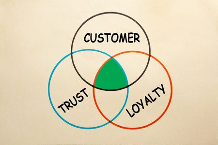 Diagram of Customer Trust Loyalty to explain the intersection.