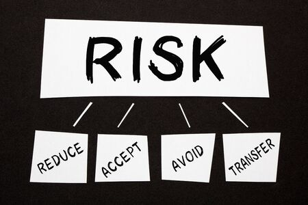 Risk Management diagram on black background. Business concept.
