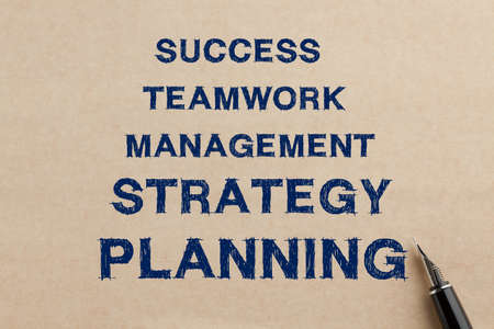 Success Teamwork Management Strategy Planning Concept