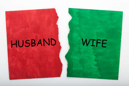Husband Wife Problem Solution Concept 免版税图像