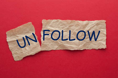 Unfollow to Follow on social networking site