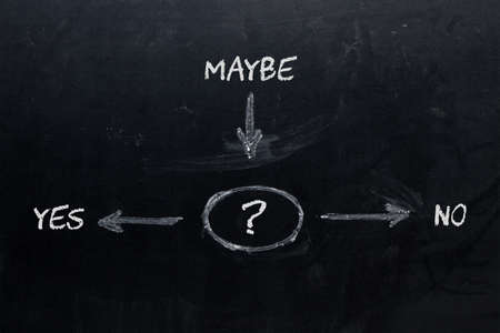 Decision Yes Maybe No. Business Concept