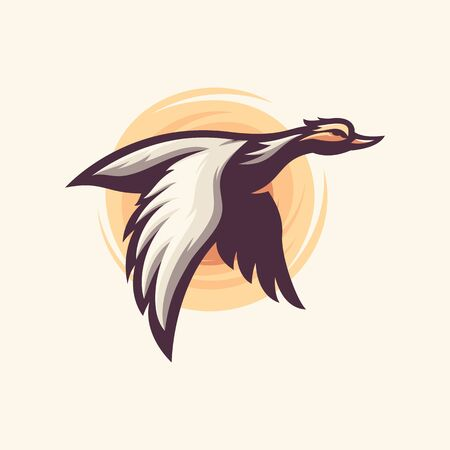 awesome flying duck logo design