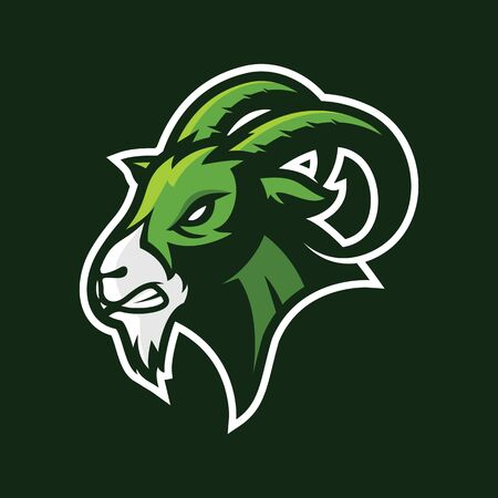 angry goat logo design