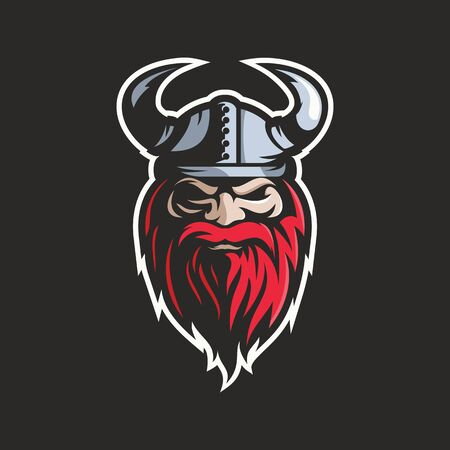 viking head logo vector