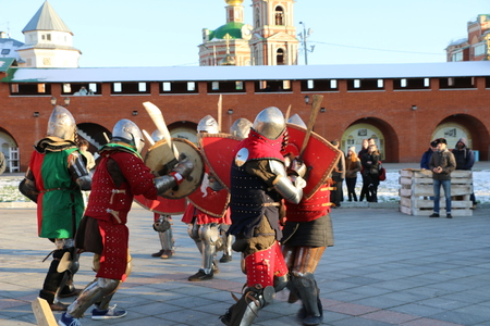 YOSHKAR-OLA, RUSSIA - NOVEMBER 4, 2017: Festival of historical reconstruction