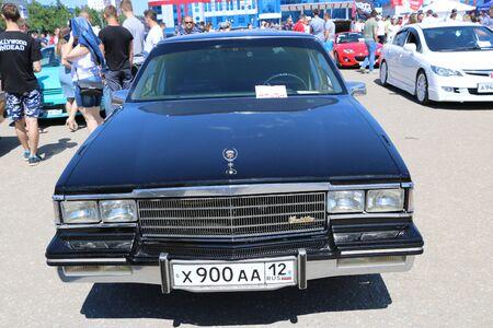 YOSHKAR-OLA, RUSSIA, JUNE 02, 2019: Auto and Motorcycle Exhibition - Festival - YO SUMMIT 2019 - Autoshow - exhibition of rare, tuned and unusual cars.