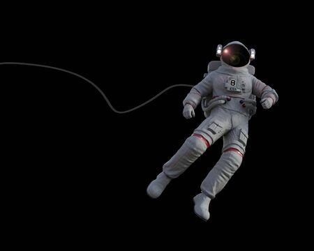 Spacewalk to establish visual contact with capsule space - 3D rendering Stok Fotoğraf