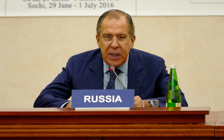 Sochi, Russia. July 1st 2016 - Session of BSEC Council of Foreign Ministers in Sochi Редакционное