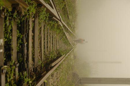 disuse: Old Railway Stock Photo