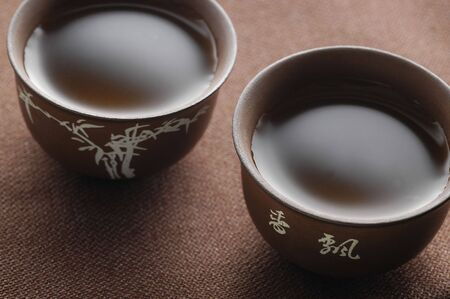 chinese tea cup: Chinese tea & cup Stock Photo