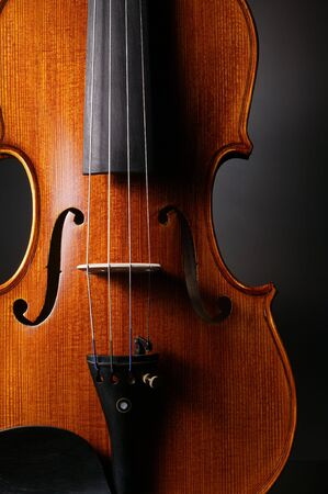 violins: violin with black background