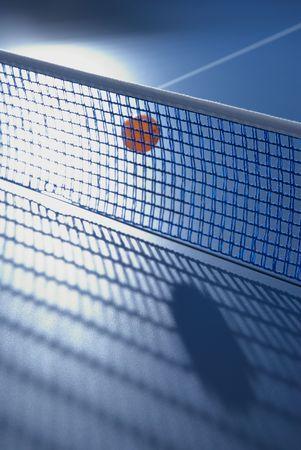 ping pong: ping pong tennis table and flying ball