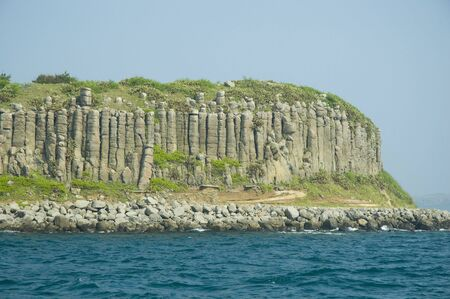basalt island closeup