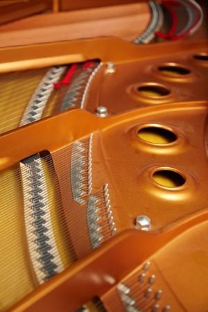 soundboard: grand piano soundboard Stock Photo
