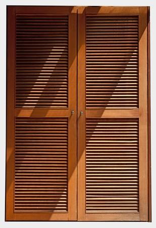 Genial Stock Photo   Wood Jalousie Door Texture With Lighting
