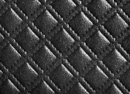 detail of  diamond pattern texture in black photo