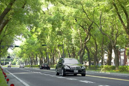 Taipei city,March ,27th,2012 -Dunhua South Road. Sight view with vehicles Stock Photo - 13154451