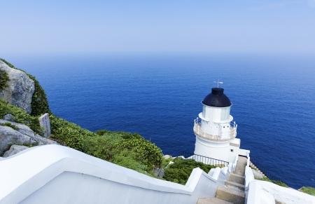 low angle views: Dongyong Faro, Dongyin l�nea de costa, Matsu, Taiw�n