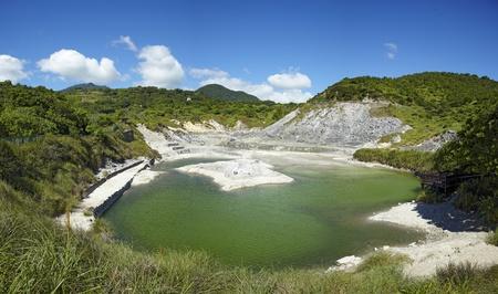 sulfur: Liuhuanggu Sulfur Lake , Yangmingshan National Park, Taipei,taiwan