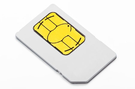 activation: sim card with white backgound, close up Stock Photo