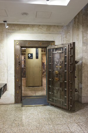 finacial: Taipei , Taiwan, March, 13th,2016,Taiwan Land Banks older vault museum exhibition