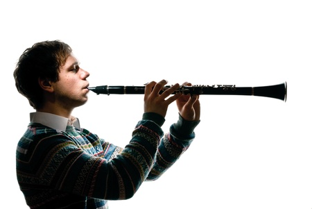 occurs: clarinet player