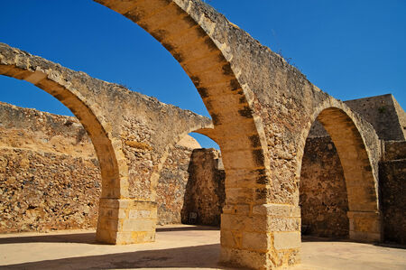 fortezza: ancient arches in an old fortezza on Crete