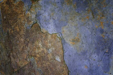 schist: a rock wall with bluish stone