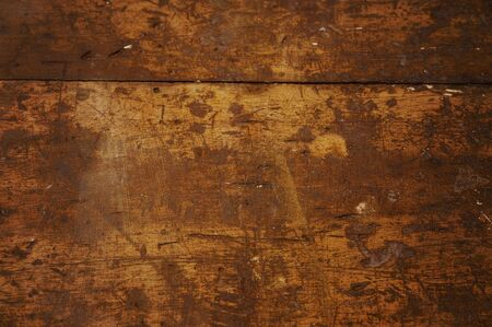 panelling: An old very used wooden worktop